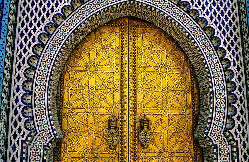 Door Of Royal Palace in Fes
